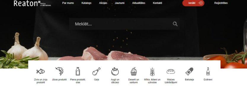 Reaton pārtikas tiešsaistes pasūtījumu platforma